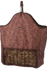 Tough-1 Slow Feed Hay Pouch - Tooled Leather