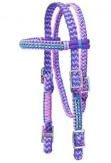 Tough-1 Braided Cord Browband Headstall with Crystal Accents