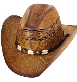 WEX Children's Brown Brockway Western Straw Hat