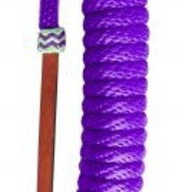 Showman Mecate Reins - Purple Nylon with Horse Hair Tassel - 23'