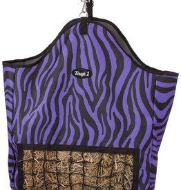 Tough-1 Slow Feed Hay Pouch - Zebra Purple