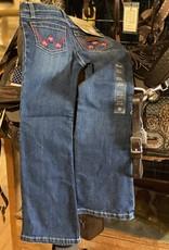Wrangler Girl's Wrangler Slim Jeans w/Pink Stitch Pocket