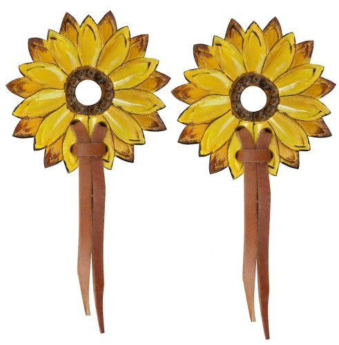 Showman Bit Guards - Leather Sunflowers