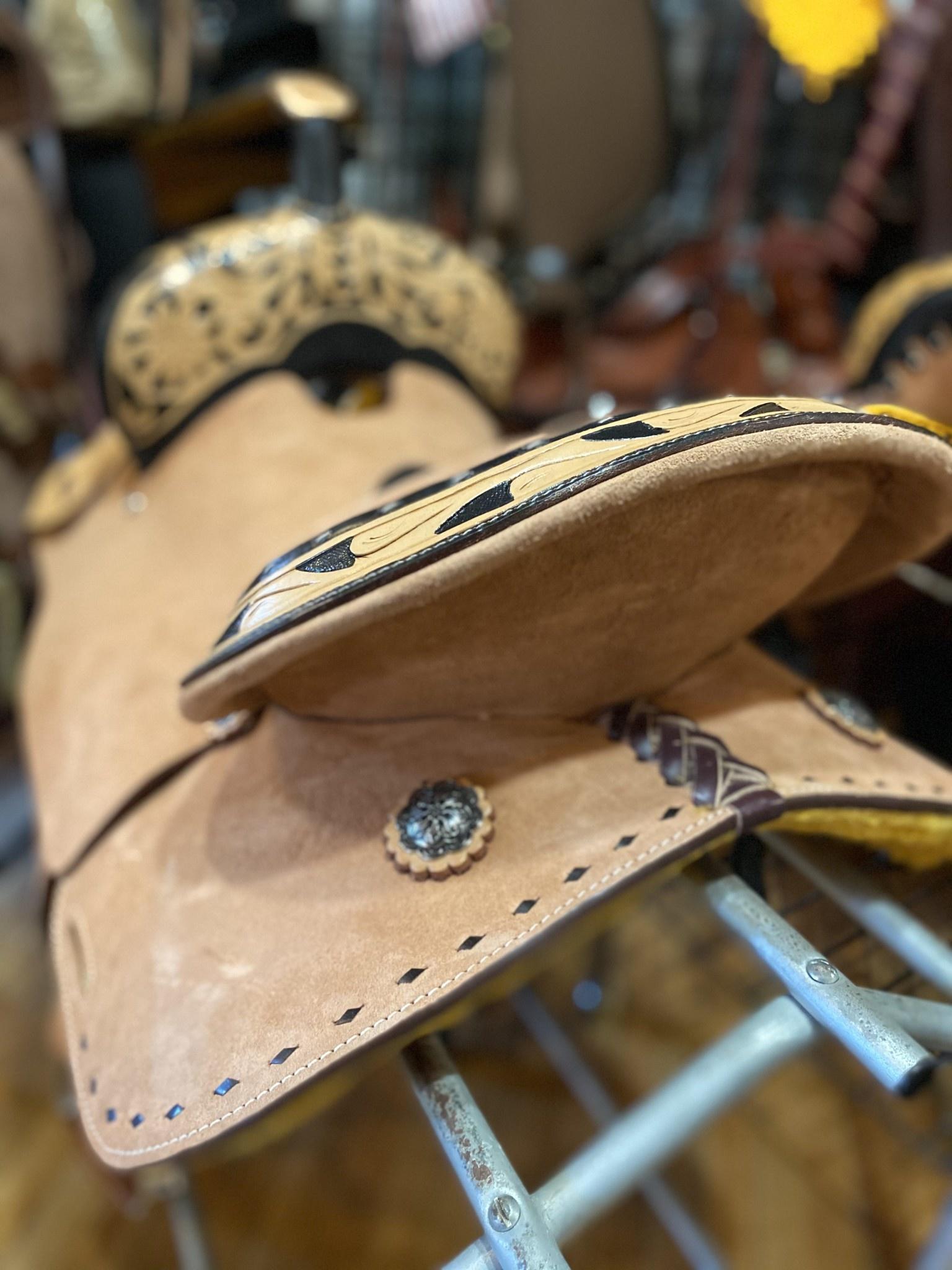 """14"""" Wild Star Roughout Barrel Saddle - Black Inlay Seat"""