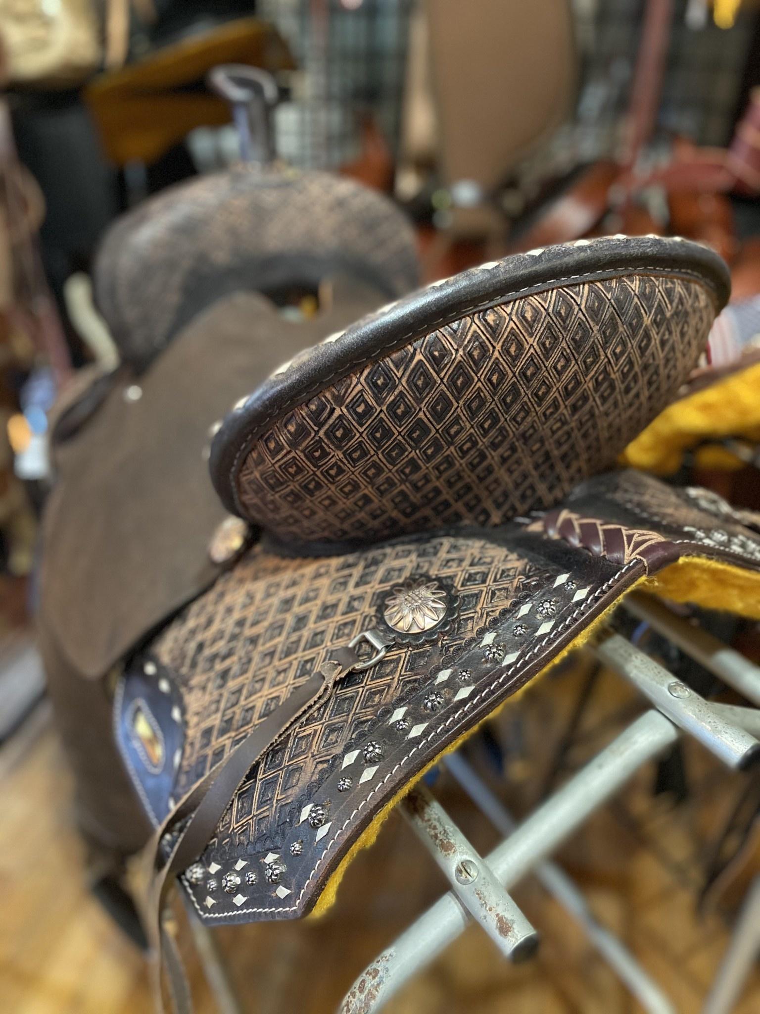 "15"" Wild Star Square Skirt Barrel Saddle"