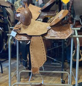 "13"" Wild Star Buckstitch Barrel Saddle - Inlay Seat"