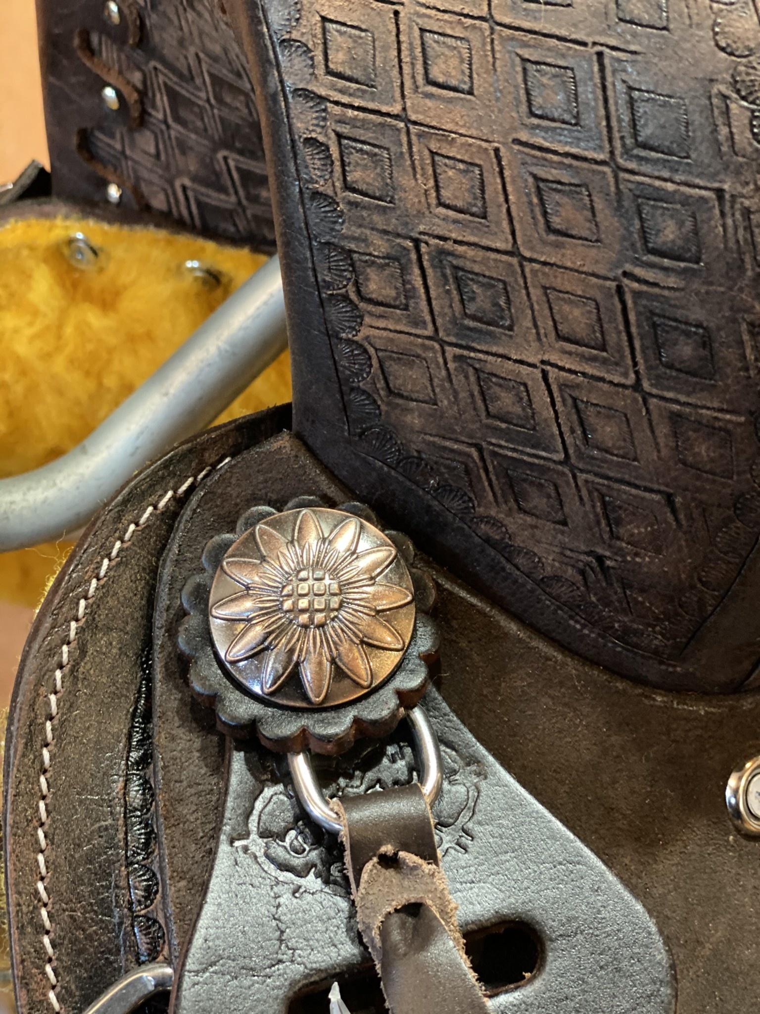 "12"" Wild Star Youth Square Skirt Barrel Saddle"