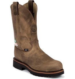 Justin Work Boots Men's Justin Work Rugged Gaucho J-Max Sole System U.S.A. Made Steel Toe Workboot
