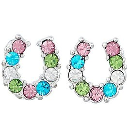 AWST Earrings - Rhinestone Horseshoe