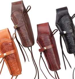WEX Tooled Leather Gun Holster (Belt Sold Separately)