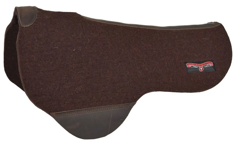 """Circle Y Dropped Rigging Trail Pad - Chocolate - 34""""D x 28""""S x 3/4"""""""