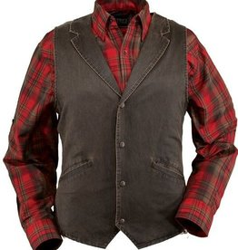 Outback Men's Arkansas Vest, Cotton, Snap Front, Hidden Breast Inside Pocket