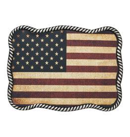 Nocona Belt Buckle - USA Flag