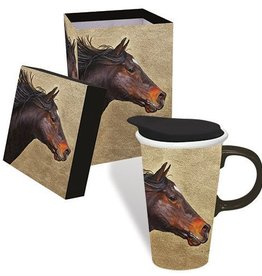 Boxed Ceramic Mug 17 oz - Running Horse