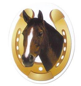 Magnet - Bay Horse in Horseshoe