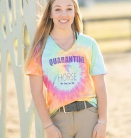 "Stirrups Women's Stirrups T-Shirt - ""Quarantine"" Tie Dye"