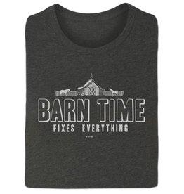 "Stirrups Women's Stirrups T-Shirt - ""Barn Time Fixes Everything"""