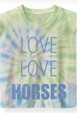 "Stirrups Children's Stirrups T-Shirt - ""Love Love Horses"""