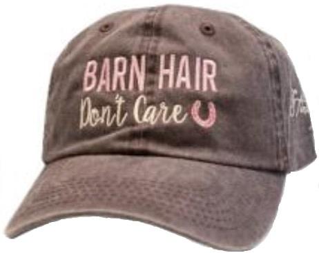 """Stirrups Ball Cap - """"Barn Hair, Don't Care"""""""