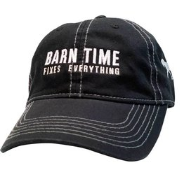 "Stirrups Ball Cap - ""Barn Time Fixes Everything"""