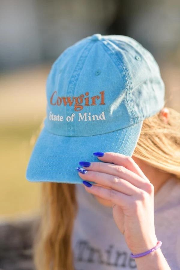 "Stirrups Ball Cap - ""Cowgirl State of Mind"""