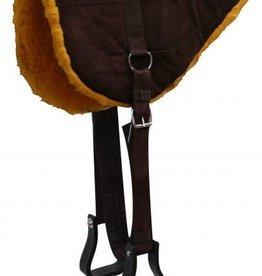 Showman Suede Horse Size Bareback Pad w/ Stirrups