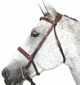 HDR Henri de Rivel Pro Mono Crown Padded Bridle with Laced Reins