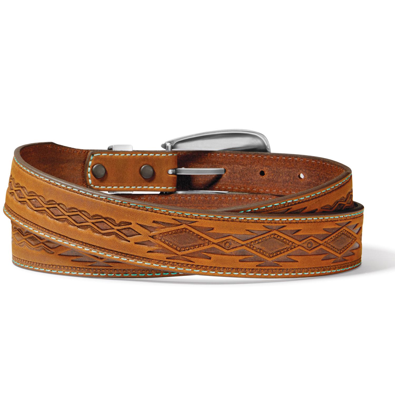Tony Lama Belts Adult - Dakota Belt Brown