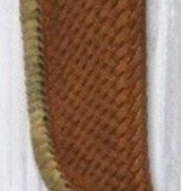 "Western Fashion Accessories Knife Sheath, Basketweave, Rawhide Lace, Leather Belt Loop - 3.5"""