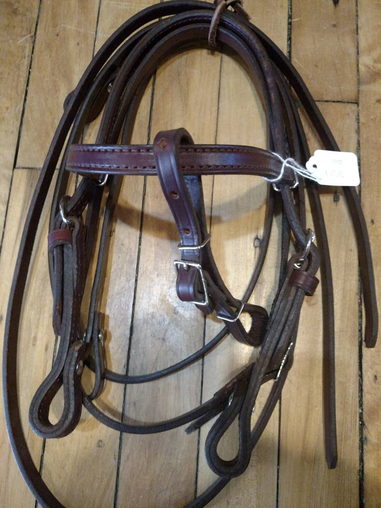 Circle L Western Leather Bridle w/Reins, U.S.A. Made - Pony/Mini
