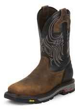 Justin Work Boots Men's Justin Tanker Black Steel Toe