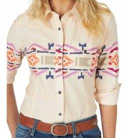 Wrangler Women's Wrangler LS Cream South Western Deco Shirt