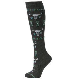 Women's Boot Doctor Over the Calf Socks - Longhorn Skull