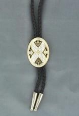 Bolo Tie - Oval Aztec Design
