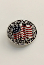 """Belt Buckle - """"Proud to be an American"""""""