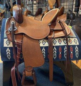 "Circle L 17"" Wide Circle L Ranch Roper Saddle Medium Oil"
