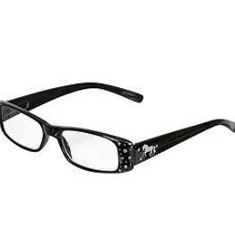 AWST Reader Glasses, Black w/ D-Bit Design +1.50 mag