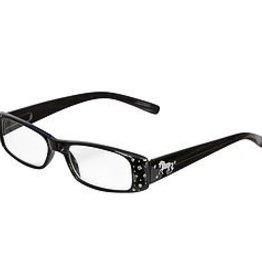 AWST Reader Glasses, Black w/ D-Bit Design +1.50 mag