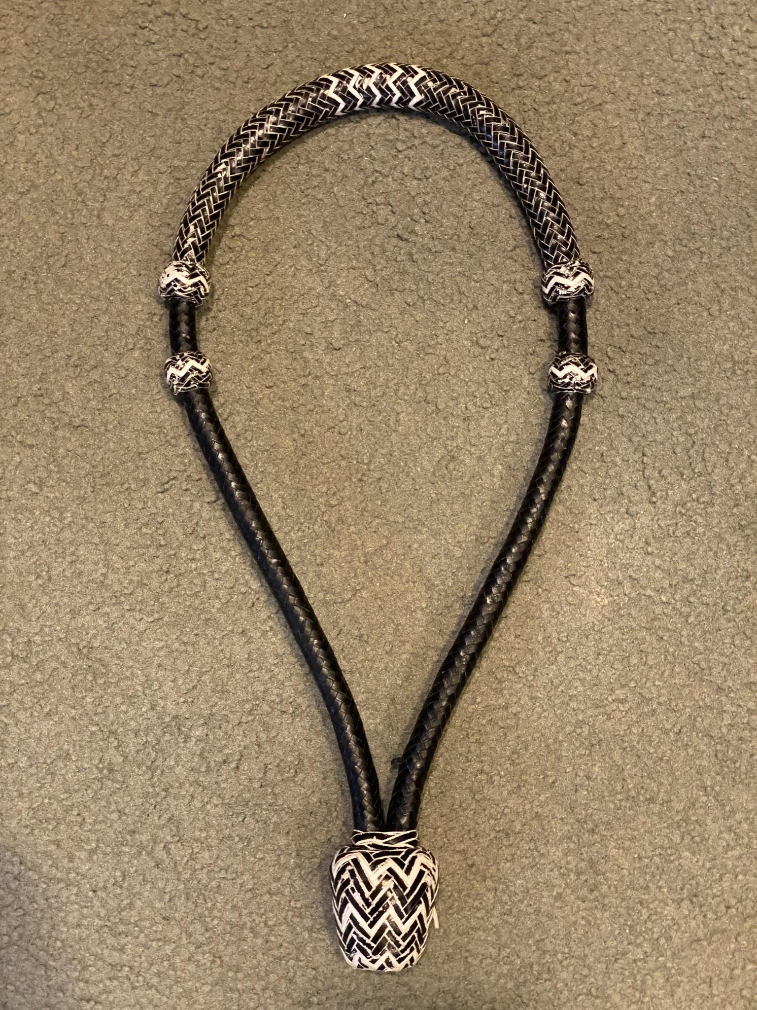 """Lamprey Bosal - Natural Braid, Rawhide, 3/4"""" Diameter x 12"""""""