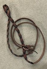 """Circle L Circle L Leather Lace Game Reins with Tie End - 5/8"""" x 7'"""