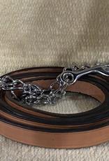 Circle L Circle L Leather Lead w/Chain
