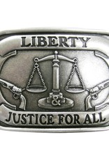 """Belt Buckle - """"Liberty & Justice for All"""""""