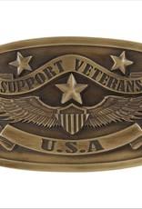 """Belt Buckle - """"Support Veterans USA"""""""