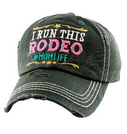 "WEX Ball Cap - ""I Run This Rodeo #MomLife"""