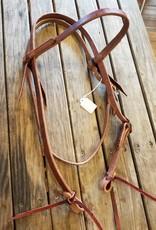 Circle L Circle L One Buckle Headstall - Horse Size Dk. Oil Plain