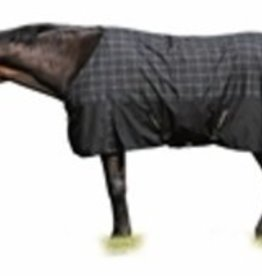 Tuffrider TuffRider 1680D Thermolined Turnout Blanket Black w/Sand and Blue Check 70