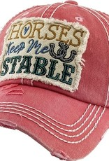 "AWST Ball Cap - ""Horses Keep Me Stable"""