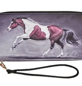 """AWST Wallet - """"Lila"""" Galloping Paint Horse"""
