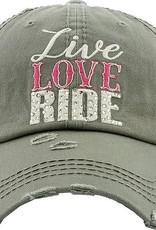 """AWST Ball Cap - """"Live, Love, Ride"""""""