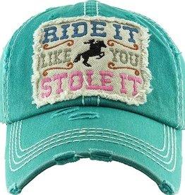 "AWST Ball Cap - ""Ride It Like You Stole It"""